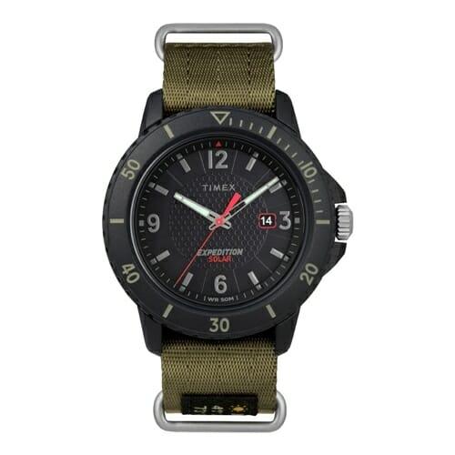ガラティンソーラー ブラック×グリーン「TW4B14500」TIMEX(タイメックス)