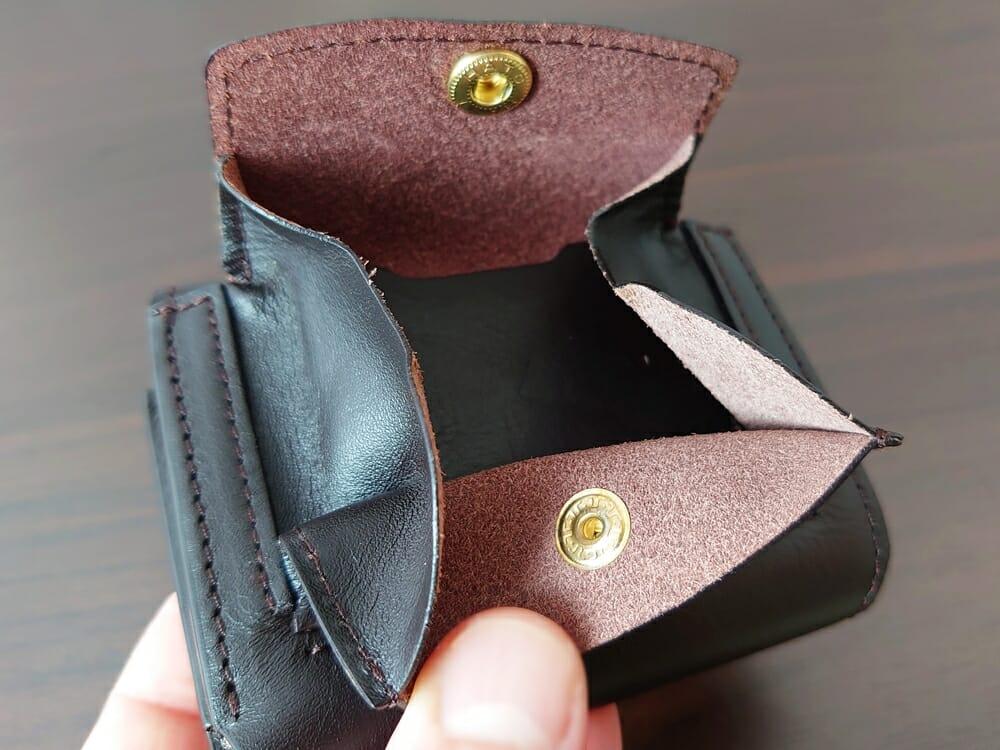 LIFE POCKET(ライフポケット)MiniWallet3 ミニウォレット3 espresso エスプレッソ レザーの薄さ 小銭入れ