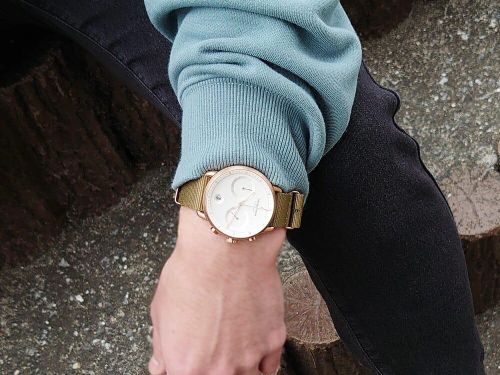 20代メンズおすすめ腕時計 Nordgreen ノードグリーン Pioneer パイオニア グリーンナイロン着用 カスタムファッションマガジン