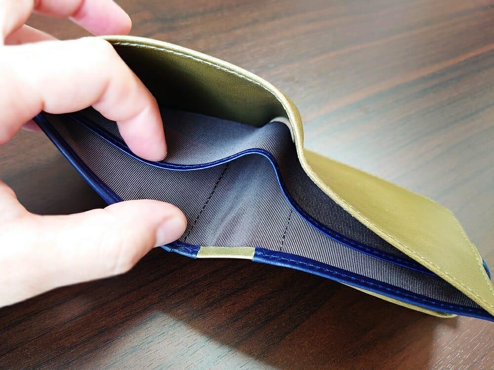 JOGGO(ジョッゴ)ENISHI 2つ折り財布 姫路レザー(グリーン、ブルー)札入れ 内生地