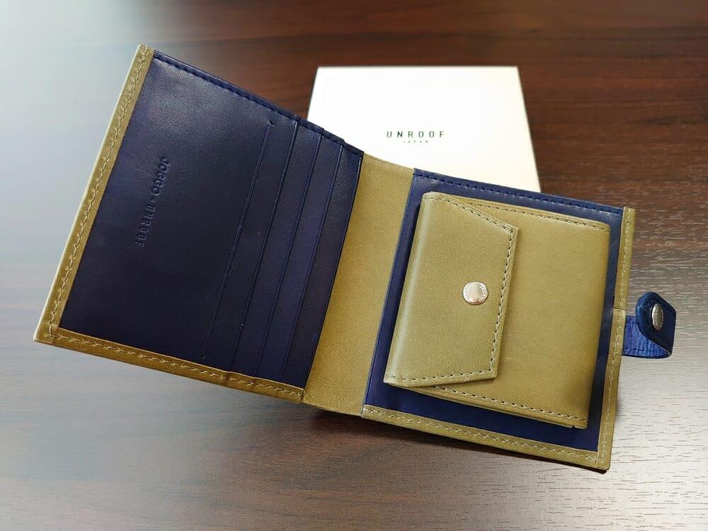 JOGGO(ジョッゴ)ENISHI 2つ折り財布 姫路レザー(グリーン)見開き