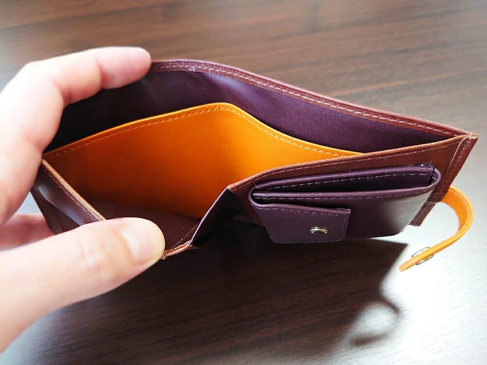 JOGGO(ジョッゴ)ENISHI 2つ折り財布 姫路レザー(ブラウン、オレンジ)札入れ 仕切り