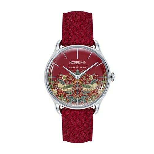 August Berg(オーガスト・バーグ)Morris & Co. [モリス&コー] Crimson Silver [シルバー] Strawberry Thief [いちご泥棒] Red [レッド] Perlon [ペルロン]