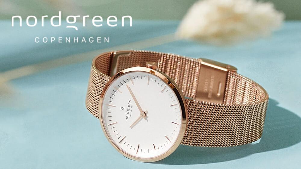 Nordgreen ノードグリーン Infinity インフィニティ ローズゴールド メッシュ レディース腕時計