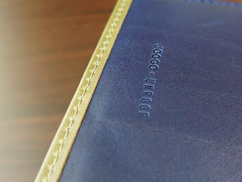 JOGGO(ジョッゴ)ENISHI 2つ折り財布 姫路レザー(グリーン、ブルー)内装 エッジ ステッチ 仕立て ロゴ