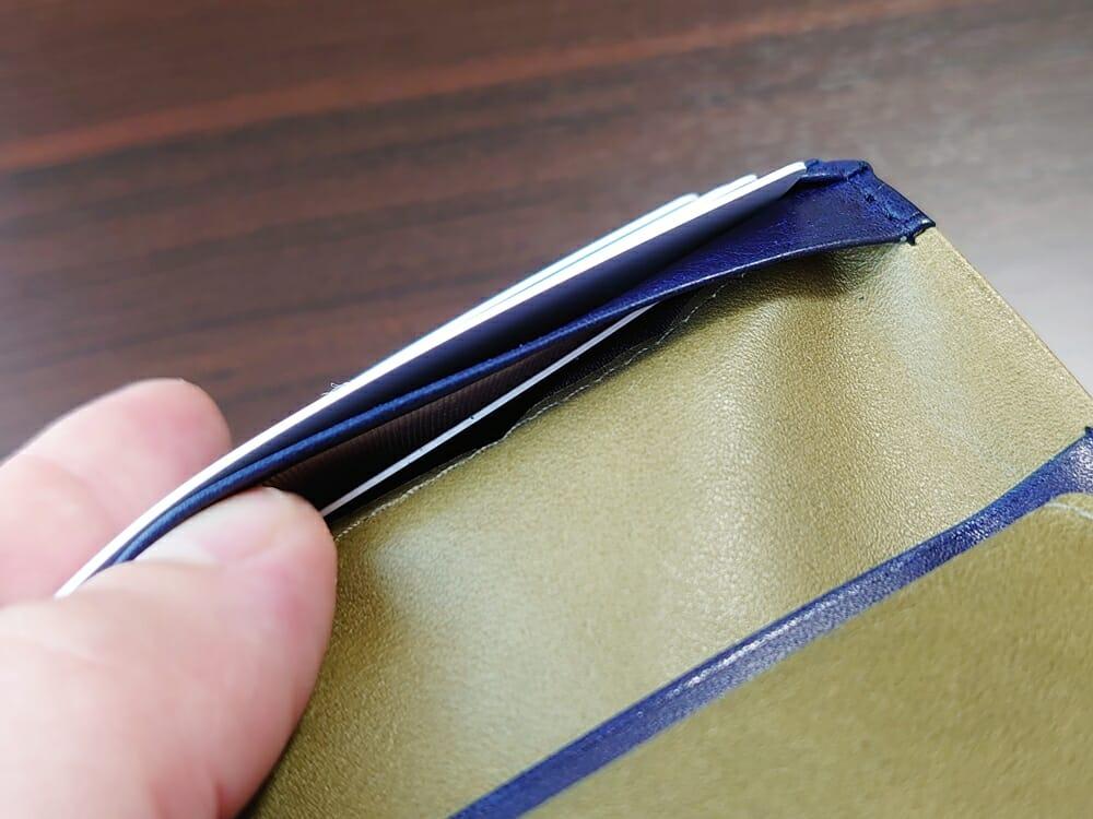 JOGGO(ジョッゴ)ENISHI 2つ折り財布 姫路レザー(グリーン、ブルー)カードポケット 使い勝手2