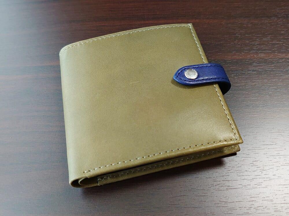 JOGGO(ジョッゴ)ENISHI 2つ折り財布 姫路レザー(グリーン)外装 正面