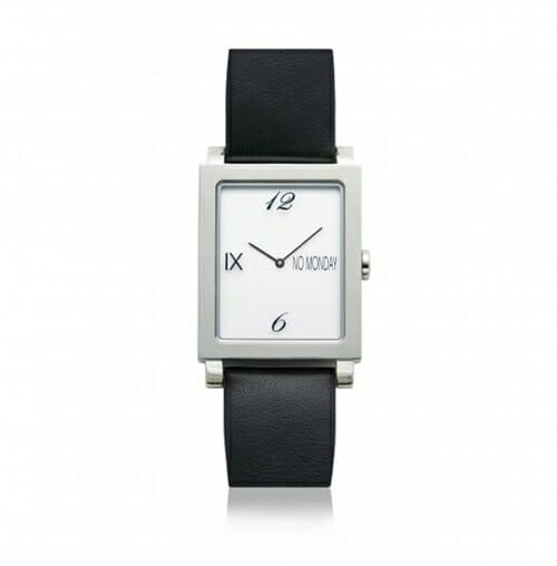 ATAES Silver&Black NM-56181 39×32mm NO Monday(ノーマンデー)腕時計