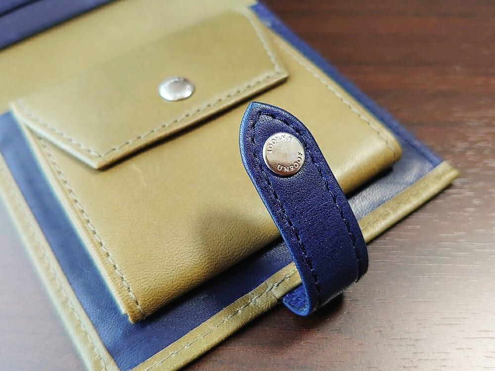 JOGGO(ジョッゴ)ENISHI 2つ折り財布 姫路レザー(グリーン、ブルー)小銭入れ ベルト ホック カラー