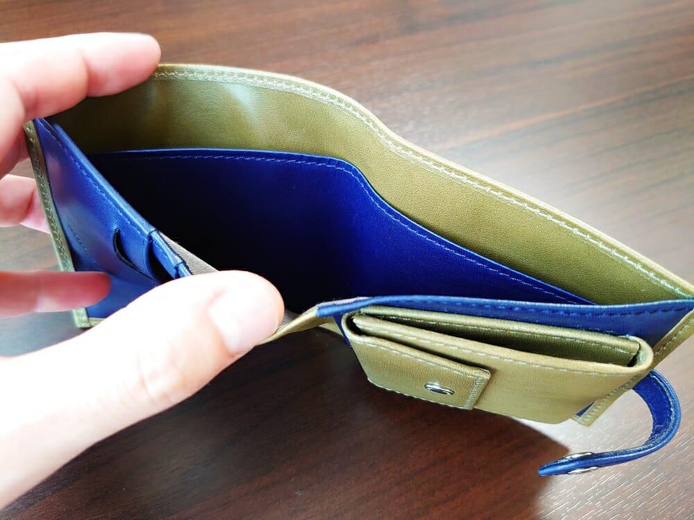 JOGGO(ジョッゴ)ENISHI 2つ折り財布 姫路レザー(グリーン、ブルー)札入れ仕切り