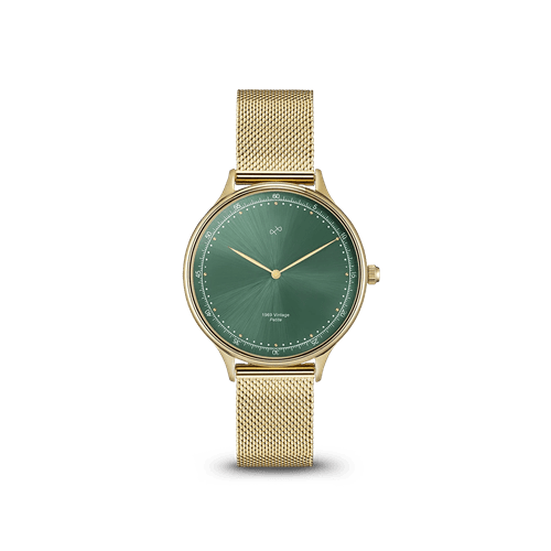 About Vintage(アバウトヴィンテージ)196 PETITE GOLD GREEN SUNRAY メッシュ