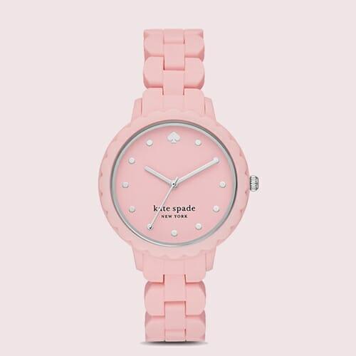 モーニングサイド スリーハンド ピンク シリコン ウォッチ kate spade new york(ケイト・スペード ニューヨーク)腕時計