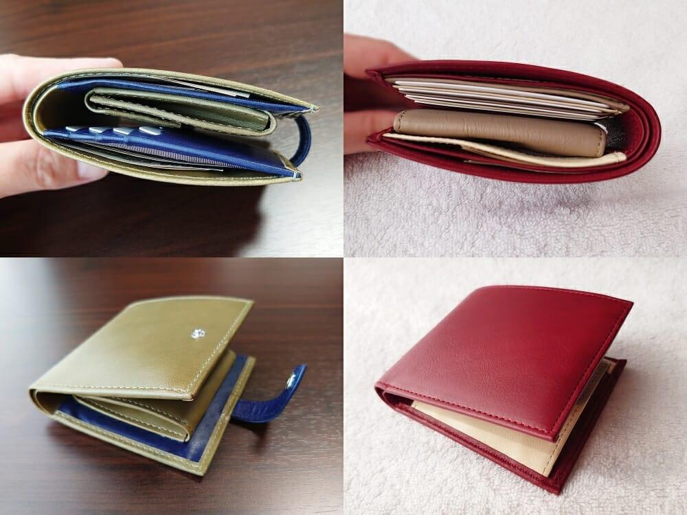 JOGGO(ジョッゴ)ENISHI 2つ折り財布 ベーシックライン 2つ折り財布 厚みを比較