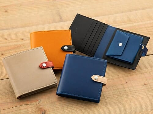 JOGGO ジョッゴ ENISHI 2つ折り財布 (ENISHI)ナチュラル オレンジ ブラック ブルー