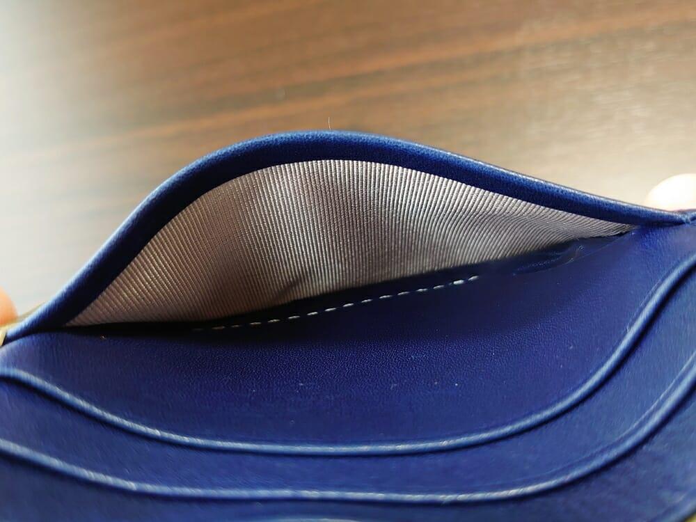 JOGGO(ジョッゴ)ENISHI 2つ折り財布 姫路レザー(グリーン、ブルー)カードポケット な内側生地 ナイロン系