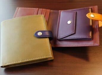 JOGGO(ジョッゴ)ENISHI 2つ折り財布 姫路レザー(グリーン、ブラウン)カスタムファッションマガジン