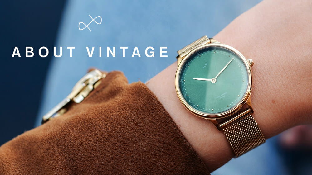 About Vintage(アバウトヴィンテージ)1969 petit Gold Green レディース腕時計