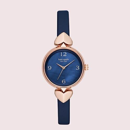 ホリス ネイビー レザー ウォッチ kate spade new york(ケイト・スペード ニューヨーク)腕時計