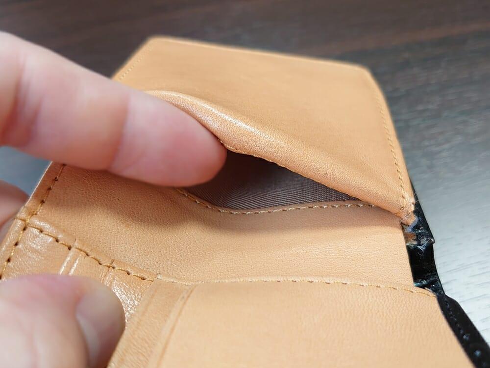 二つ折り財布 st-819 イタリアンレザー(フルグレイン)スキミング防止機能付 MURA(ムラ)見開き 隠しポケット2