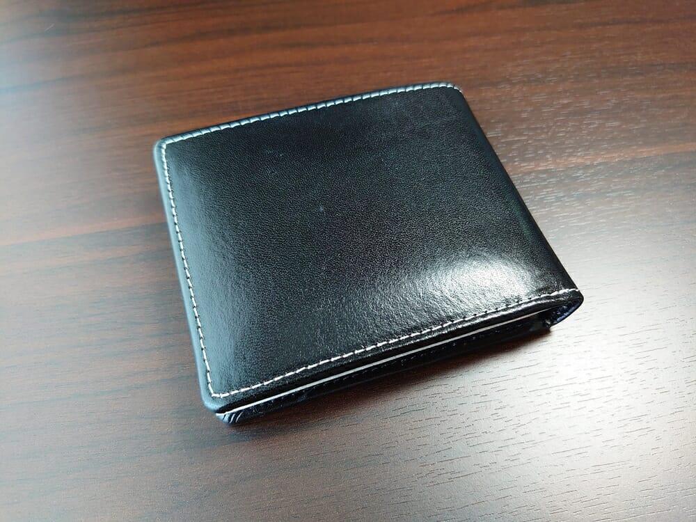 二つ折り財布 st-819 イタリアンレザー(フルグレイン)スキミング防止機能付 MURA(ムラ)表革2