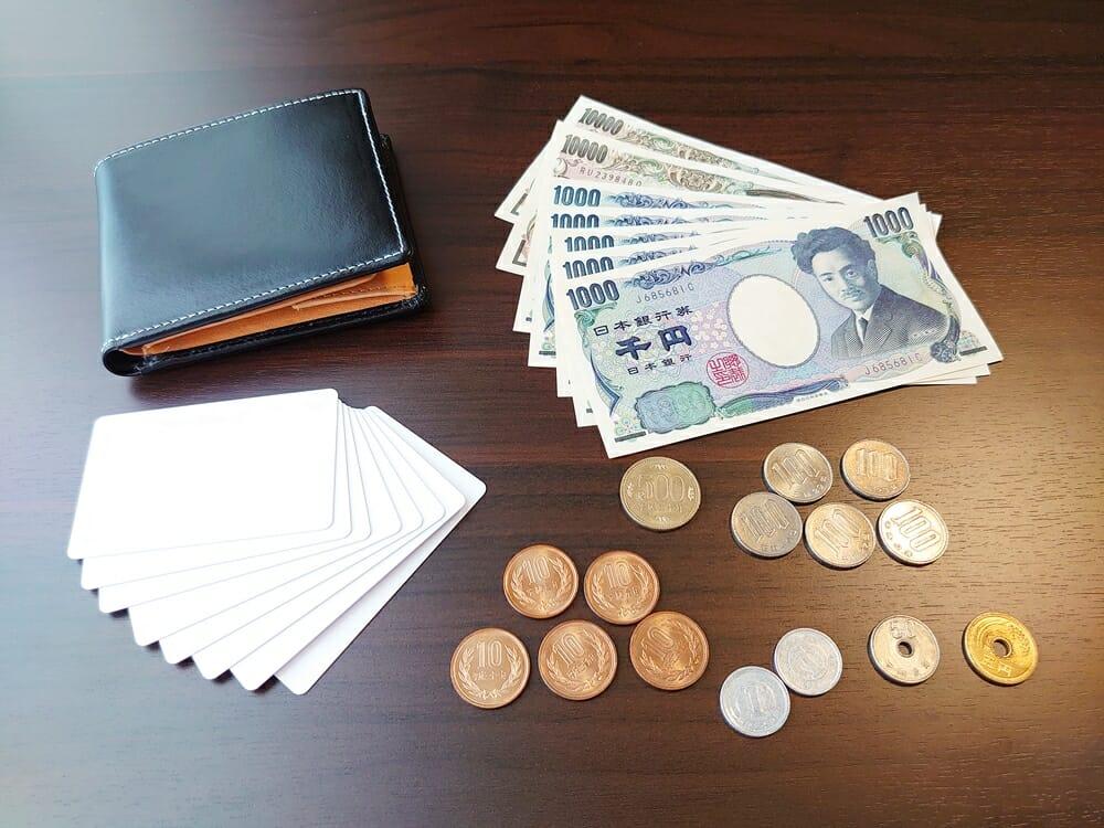 二つ折り財布 st-819 イタリアンレザー(フルグレイン)スキミング防止機能付 MURA(ムラ)お金とカードを入れてチェック