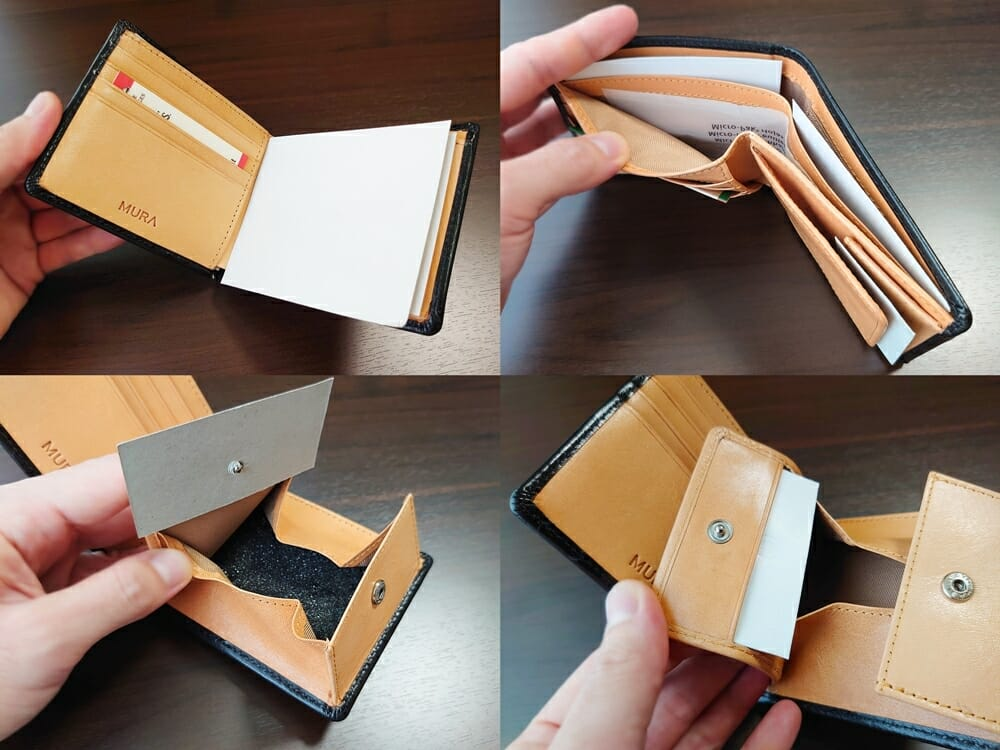 二つ折り財布 st-819 MURA(ムラ)革の保護紙 フィルム