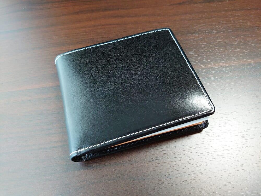 二つ折り財布 st-819 イタリアンレザー(フルグレイン)スキミング防止機能付 MURA(ムラ)表革