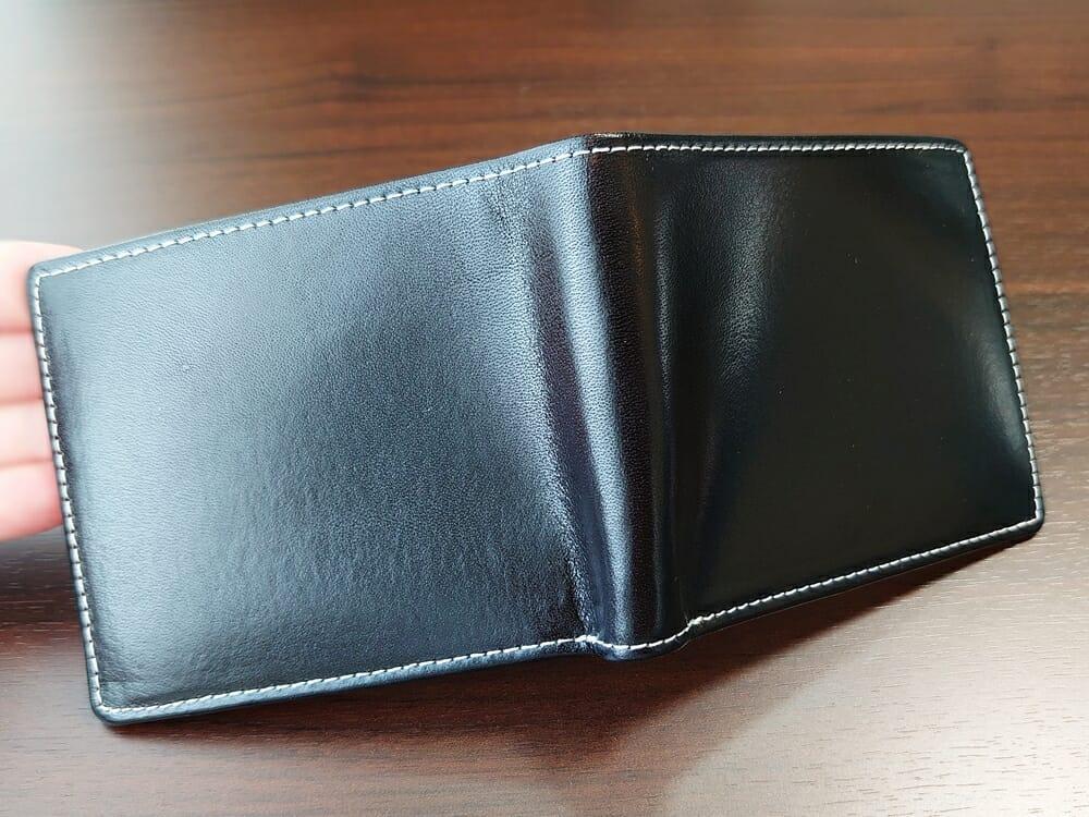二つ折り財布 st-819 イタリアンレザー(フルグレイン)スキミング防止機能付 MURA(ムラ)見開き 表