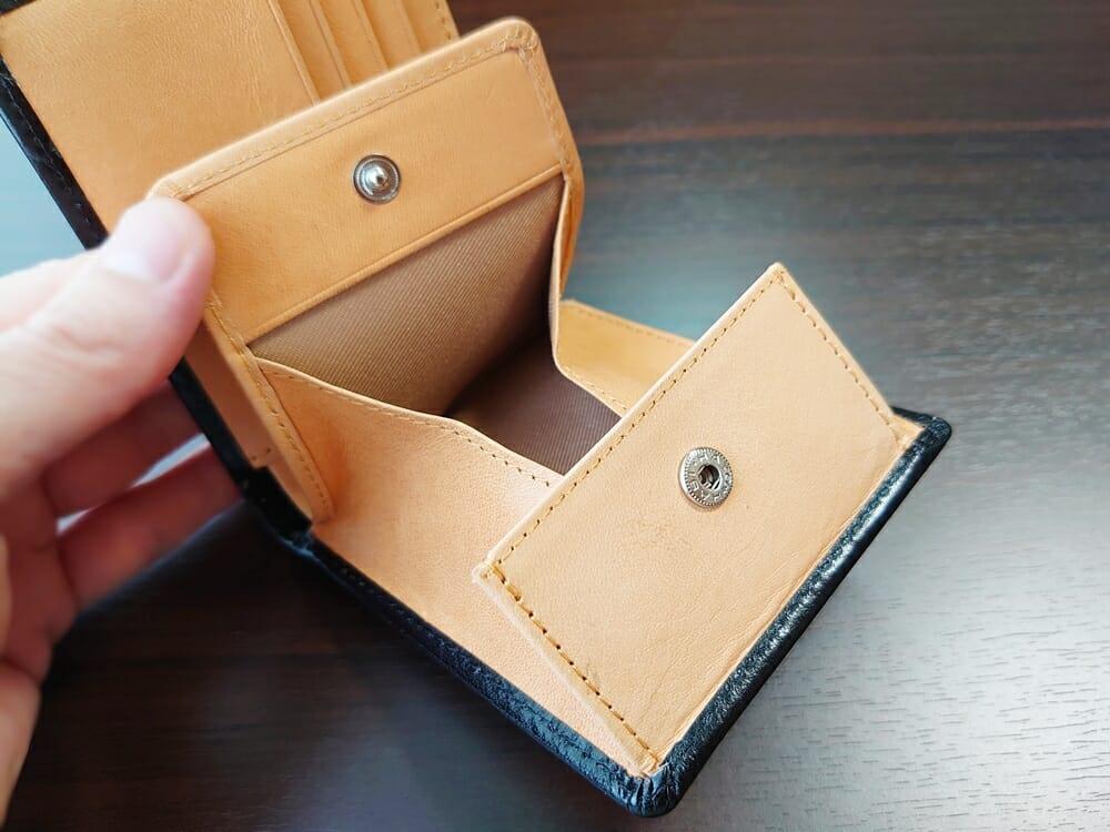 二つ折り財布 st-819 イタリアンレザー(フルグレイン)スキミング防止機能付 MURA(ムラ)見開き ボックス型 小銭入れ マチ