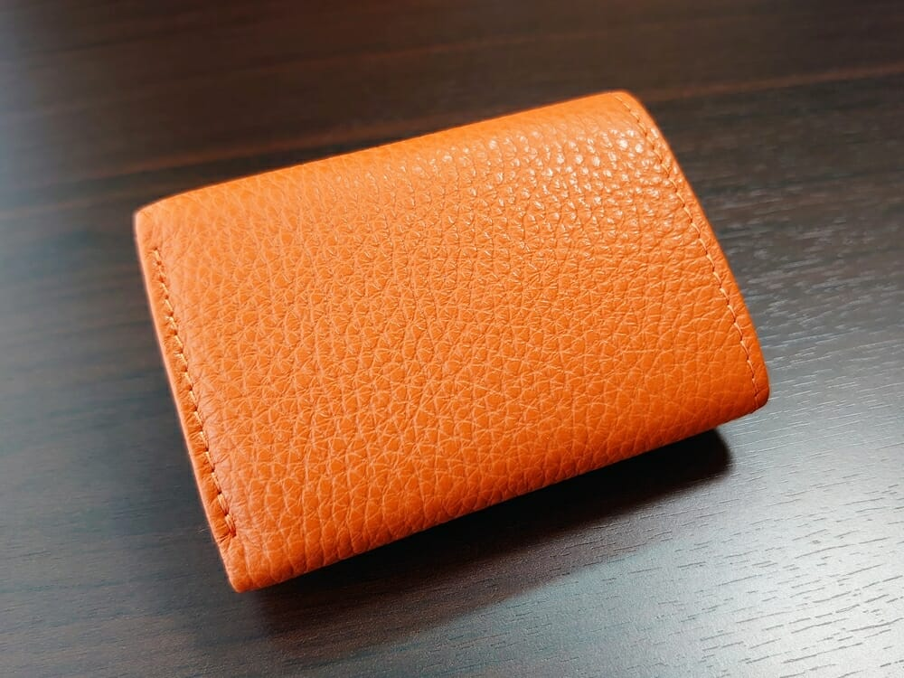 三つ折り財布 ST-909 イタリア製シュリンクレザー スキミング防止機能付 ミニ財布(オレンジ)MURA(ムラ)財布デザイン2