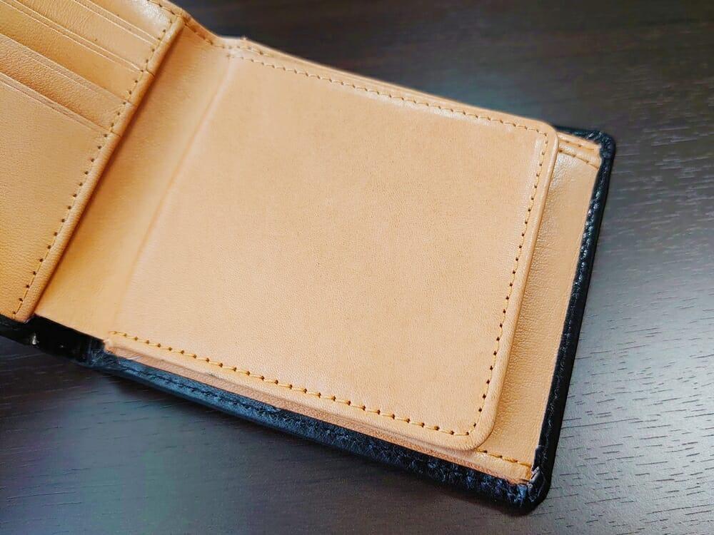 二つ折り財布 st-819 イタリアンレザー(フルグレイン)スキミング防止機能付 MURA(ムラ)見開き ボックス型 小銭入れ