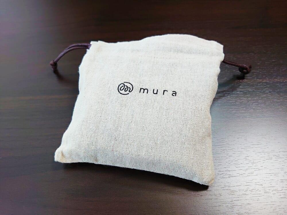 三つ折り財布 ST-909 イタリア製シュリンクレザー スキミング防止機能付 ミニ財布(オレンジ)MURA(ムラ)専用布袋(保存袋)