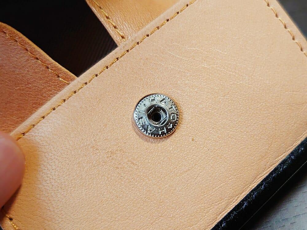 二つ折り財布 st-819 イタリアンレザー(フルグレイン)スキミング防止機能付 MURA(ムラ)スナップボタン HATO-HASHI 日本製