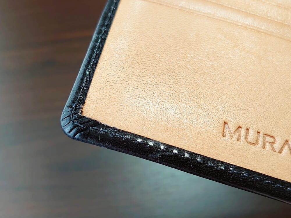二つ折り財布 st-819 イタリアンレザー(フルグレイン)スキミング防止機能付 MURA(ムラ)へり返し1