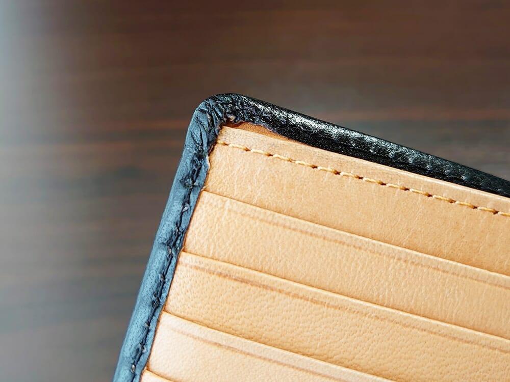 二つ折り財布 st-819 イタリアンレザー(フルグレイン)スキミング防止機能付 MURA(ムラ)へり返し2