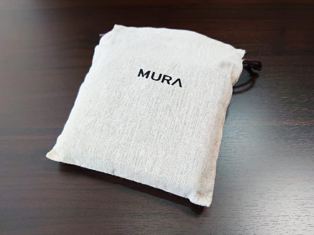 二つ折り財布 st-819 イタリアンレザー(フルグレイン)スキミング防止機能付 MURA(ムラ)専用布袋