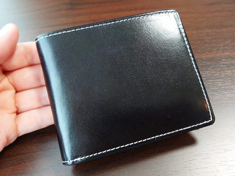 二つ折り財布 st-819 イタリアンレザー(フルグレイン)スキミング防止機能付 MURA(ムラ)レザーの質感