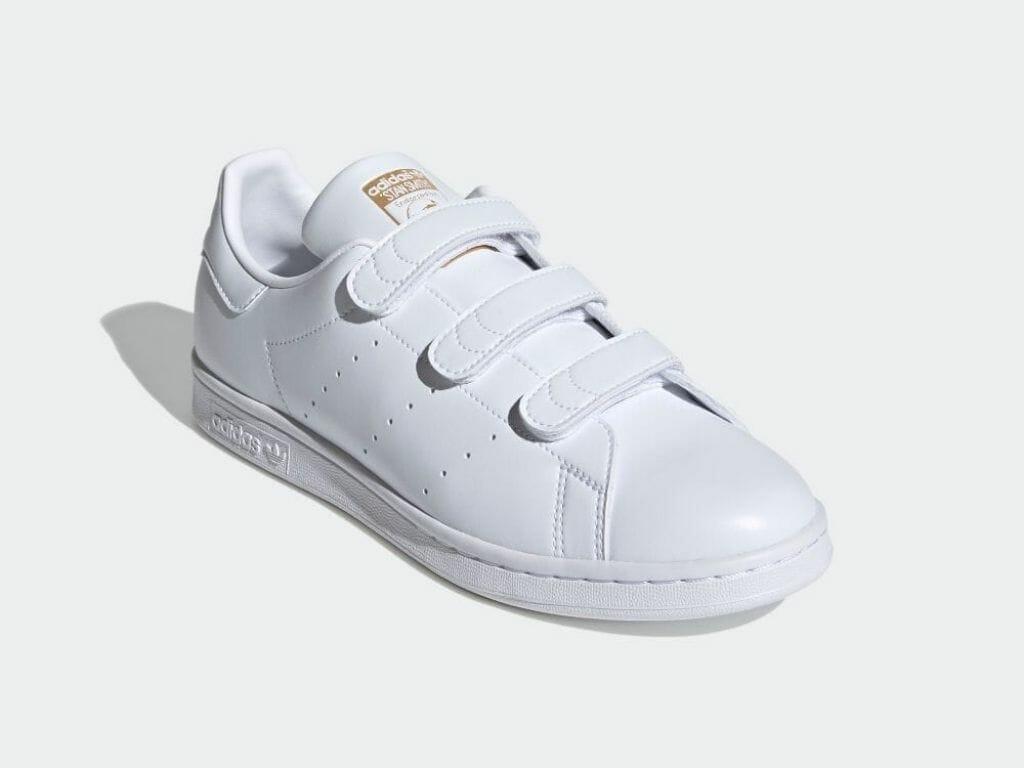 adidas(アディダス) STAN SMITH(スタンスミス)ベルクロ ホワイト ゴールド