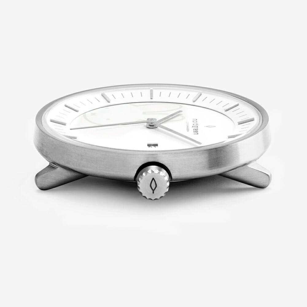 batch_Nordgreen ノードグリーン ミッフィー コラボレーション 腕時計 Philosopher フィロソファ(シルバーメッシュ)Philosopher_SI_Mesh_MIFFY-COLLAB-JP_Case-side