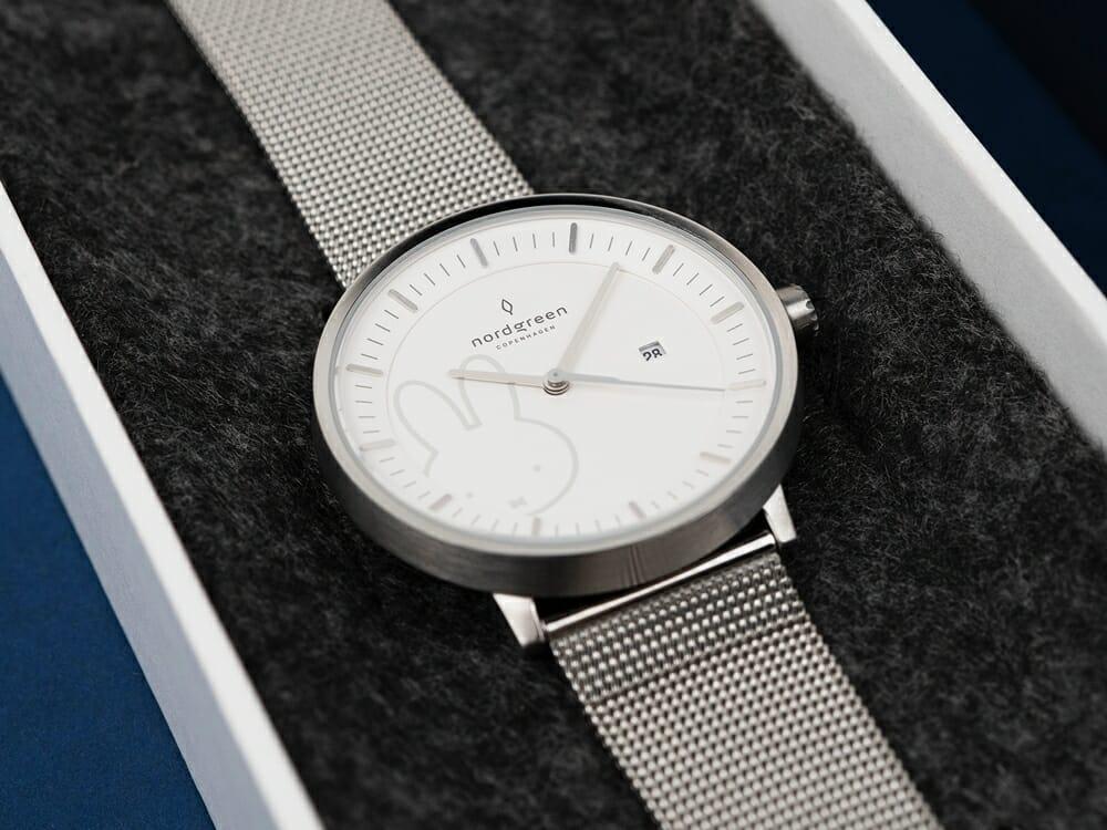 Nordgreen ノードグリーン ミッフィー コラボレーション 腕時計 Philosopher フィロソファ(シルバーメッシュ)ミッフィー パッケージング ギフトボックス6