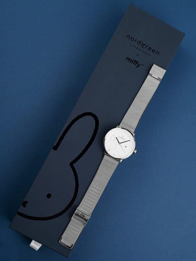 Nordgreen ノードグリーン ミッフィー コラボレーション 腕時計 Philosopher フィロソファ(シルバーメッシュ)ミッフィー パッケージング ギフトボックス7