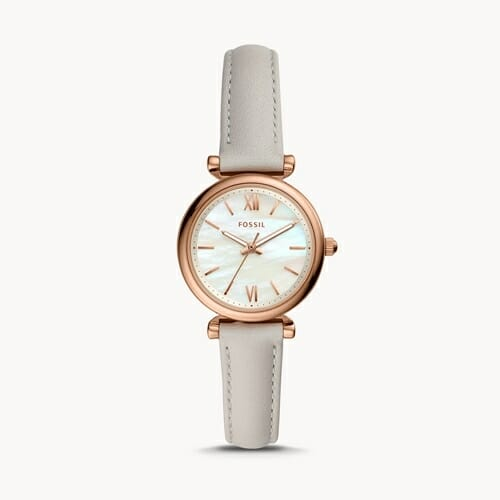 CARLIE MINI 三針 ミネラルグレー レザーウォッチ ES4529_main FOSSIL フォッシル レディース腕時計