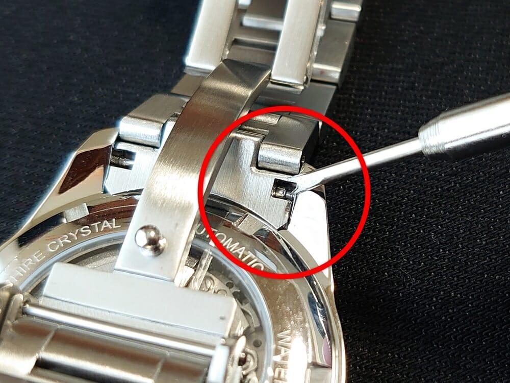 RENAUTUS ルノータス クラシックオートマチック40 ハイエンド機械式モデル メタルブレス イタリアンレザーストラップ ベルト交換 ラグ バネ棒