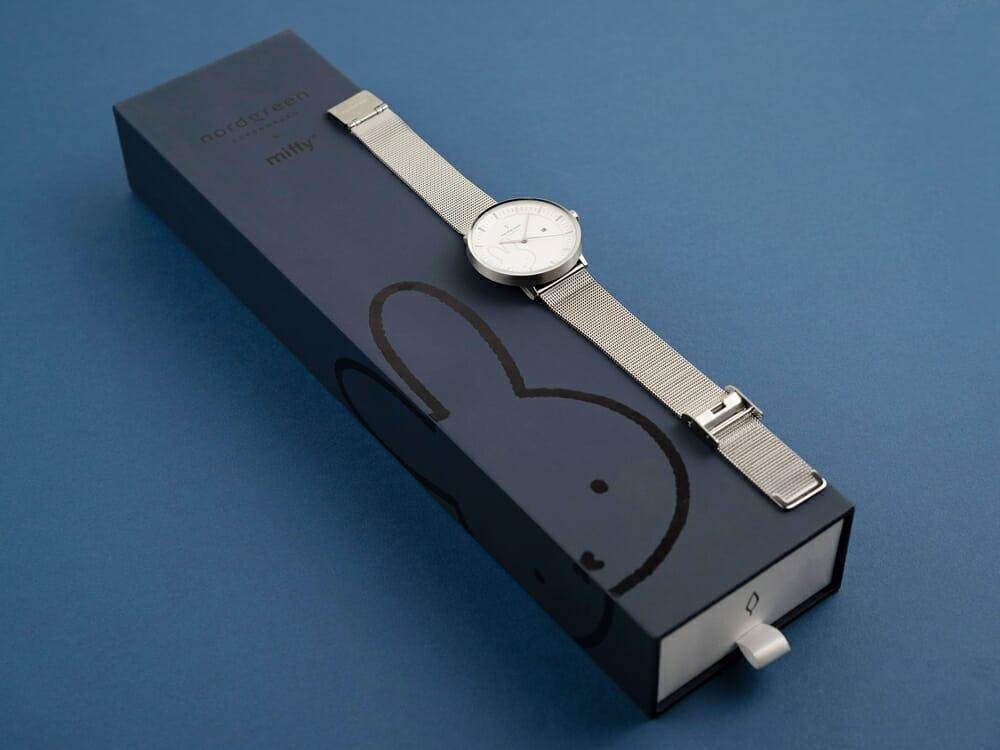 Nordgreen ノードグリーン ミッフィー コラボレーション 腕時計 Philosopher フィロソファ(シルバーメッシュ)ミッフィー パッケージング ギフトボックス3