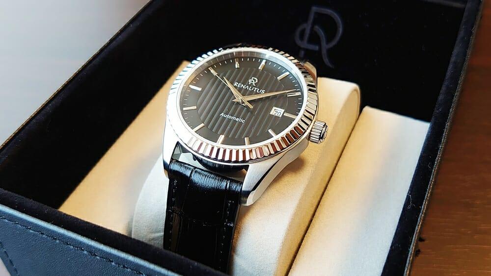 RENAUTUS ルノータス クラシックオートマチック40 ハイエンド機械式モデル レザーストラップ 腕時計ケース