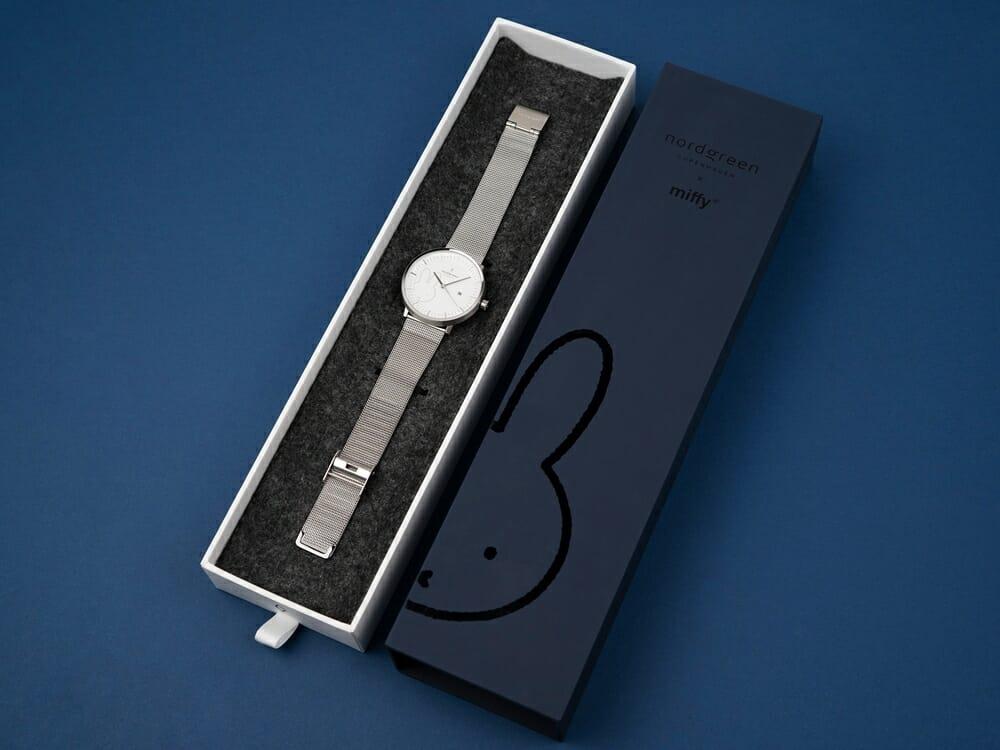 Nordgreen ノードグリーン ミッフィー コラボレーション 腕時計 Philosopher フィロソファ(シルバーメッシュ)ミッフィー パッケージング ギフトボックス5