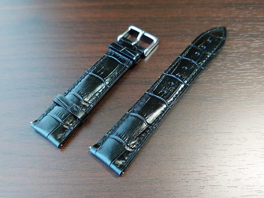 RENAUTUS ルノータス クラシックオートマチック40 ハイエンド機械式モデル イタリアンレザーストラップ クロコダイル調型押し ブラック