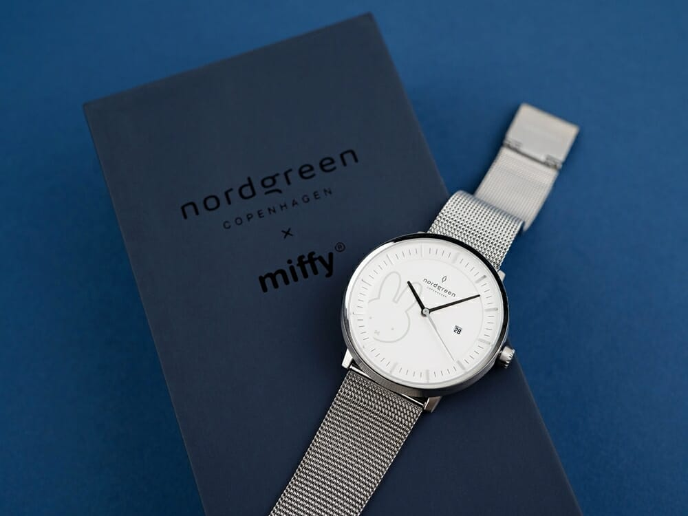 Nordgreen ノードグリーン ミッフィー コラボレーション 腕時計 Philosopher フィロソファ(シルバーメッシュ)ミッフィー パッケージング ギフトボックス2