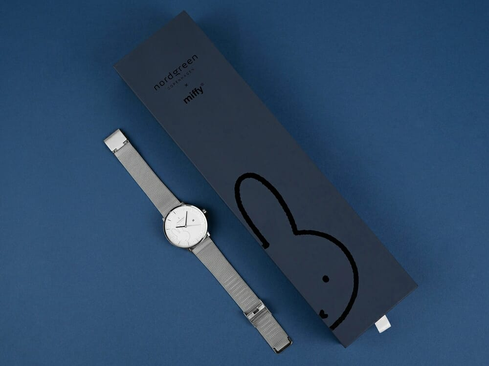 Nordgreen ノードグリーン ミッフィー コラボレーション 腕時計 Philosopher フィロソファ(シルバーメッシュ)ミッフィー パッケージング ギフトボックス1