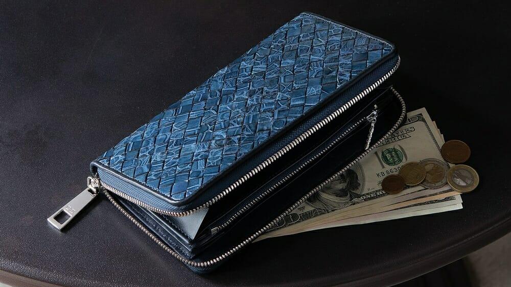 クロコダイル ポロサス イントレチャート ラウンドジップ長財布 LE'SAC(レ・ザック) クロコダイル財布